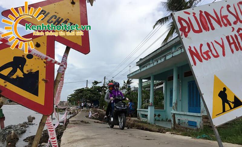 Hạn hán khủng khiếp, đường giao thông ở Cà Mau sụt lún, nứt toác - ảnh 3